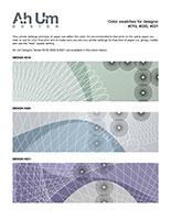Ah Um Design Print Swatch #019, #020, #021
